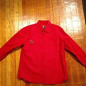 "Coke Boys Red ""leather"" jacket"